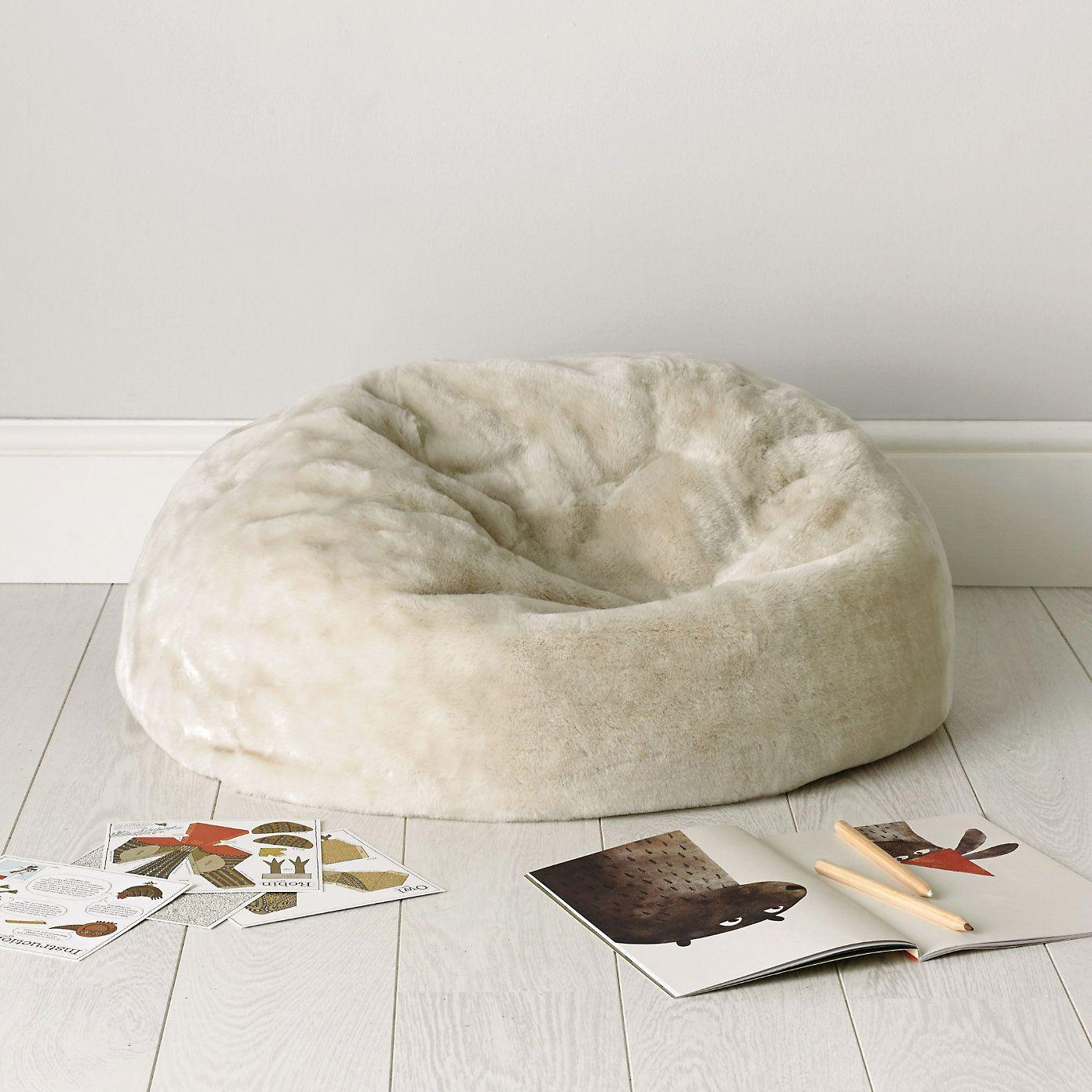 Buy Childrens Bedroom Bedroom Accessories Faux Fur Beanbag