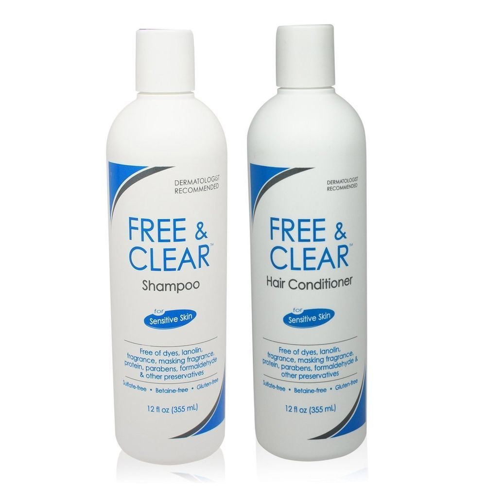 Hair Shampoo And Conditioner Set For Sensitive Skin Sulfate Gluten Betaine Free Pharmaceutic Clear Shampoo Fragrance Free Shampoo Good Shampoo And Conditioner