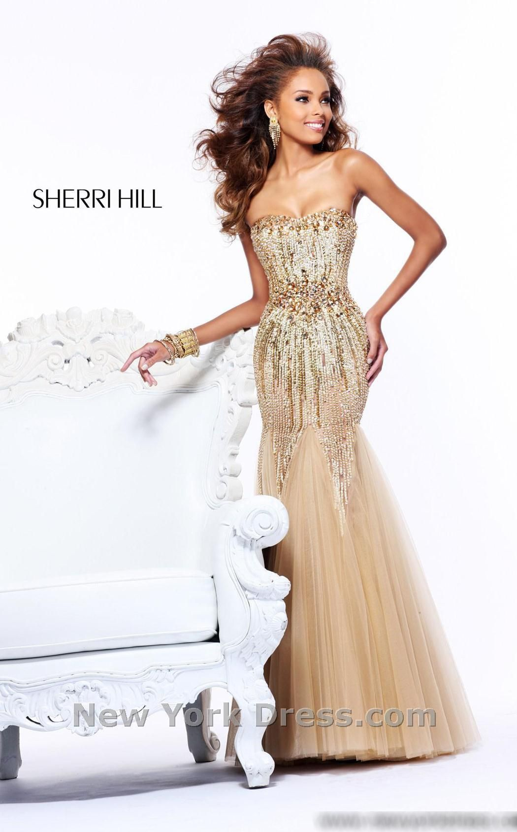 Sherri hill dress bodice sequins and celebrity
