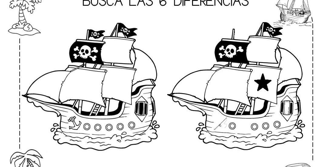 En Uno De Los Rincones De Esta Semana Estamos Haciendo Un Juego De Buscar Seis Diferencias Entre Dos Barcos Pirata Piratas Piratas Infantiles Juegos De Piratas