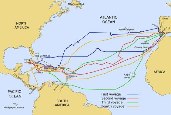 carte des voyages de christophe colomb Carde voyage de Christophe Colomb (avec images) | Christophe