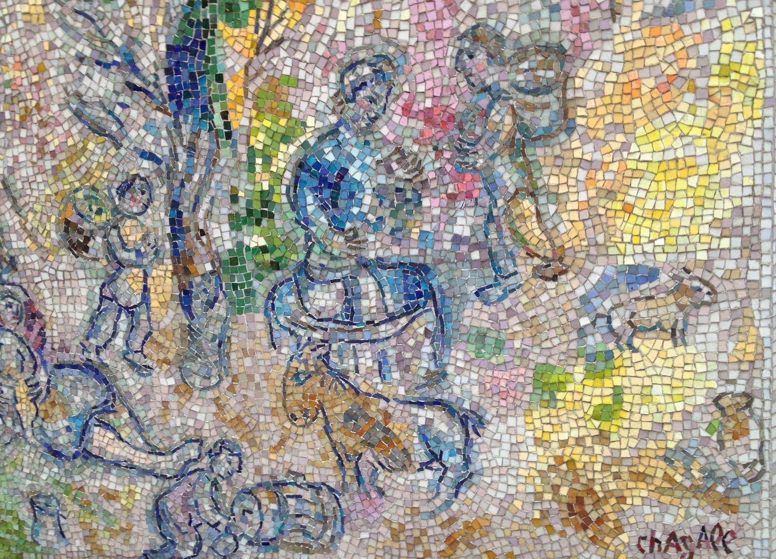 Four Seasons Chicago Map Marc Chagall | Mosaics | Marc chagall, World map art, Mosaic artwork