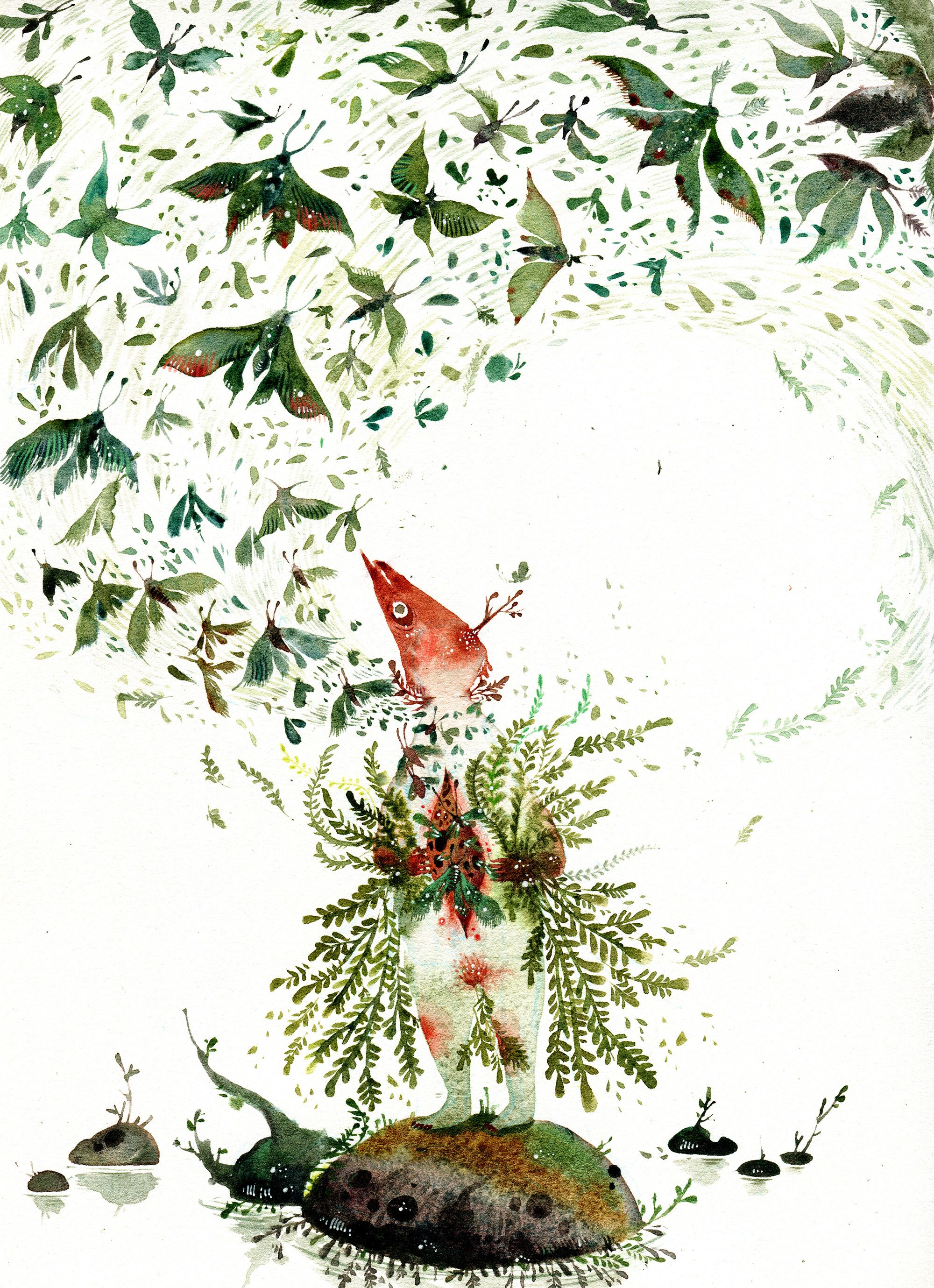 Watercolor Illustrations That Trace the Dark and Light Elements of  Storybook Myths by Amber Ma | Watercolor illustration, Illustration,  Tracing art