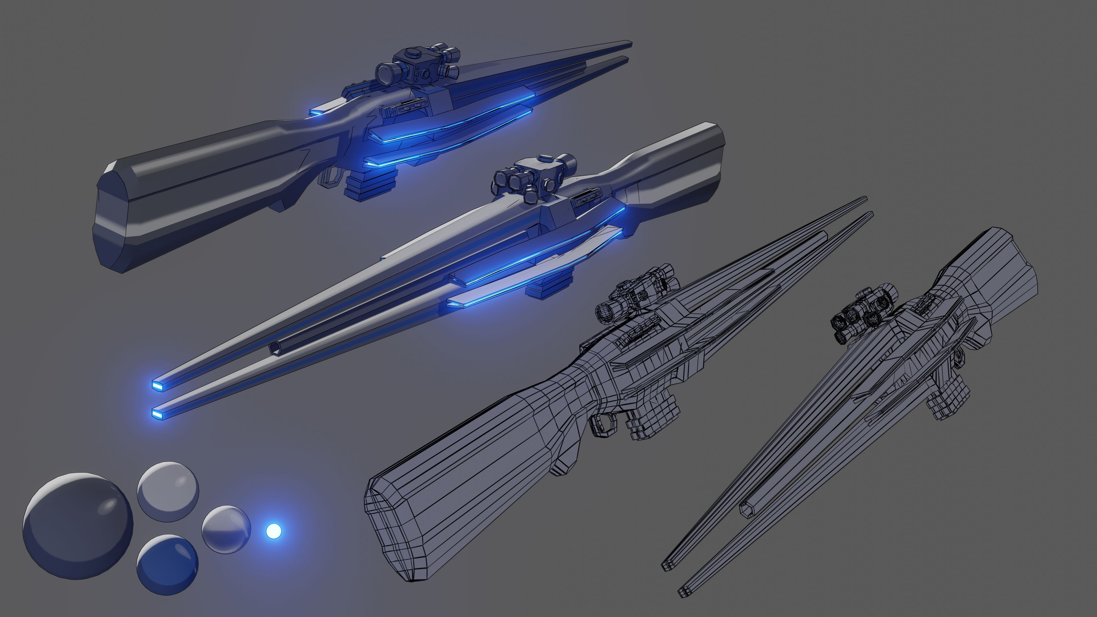 An anime styled scifi sniper for character that im
