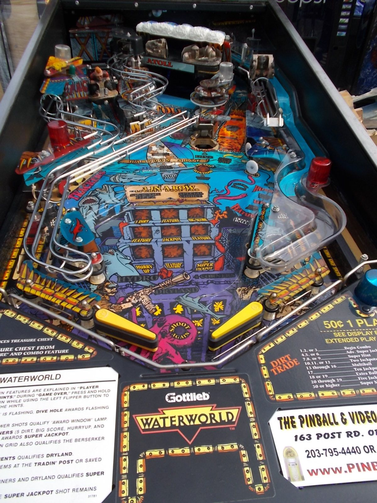Waterworld pinball machine game for sale by gottlieb 15