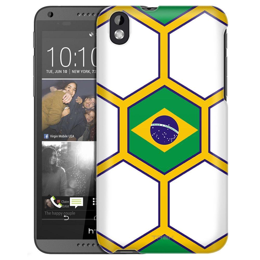 HTC Desire 816 Soccer Ball Blazil Flag Slim Case