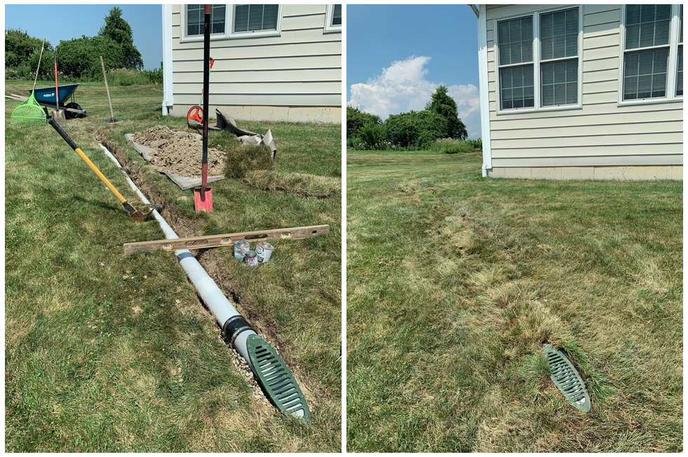 Gutter Downspout Drainage Draining Water Away From Foundation Walls To Prevent Basement Leaks Downspout Drainage Gutter Drainage Solutions Drainage