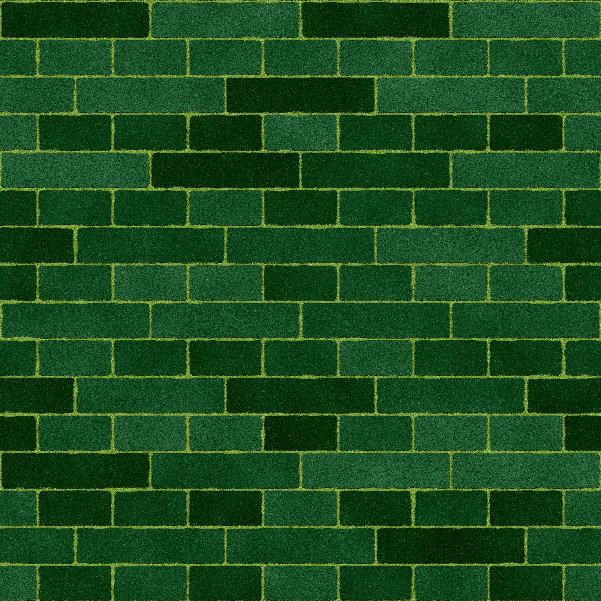 green bricks green brick wall texture, green brick wall