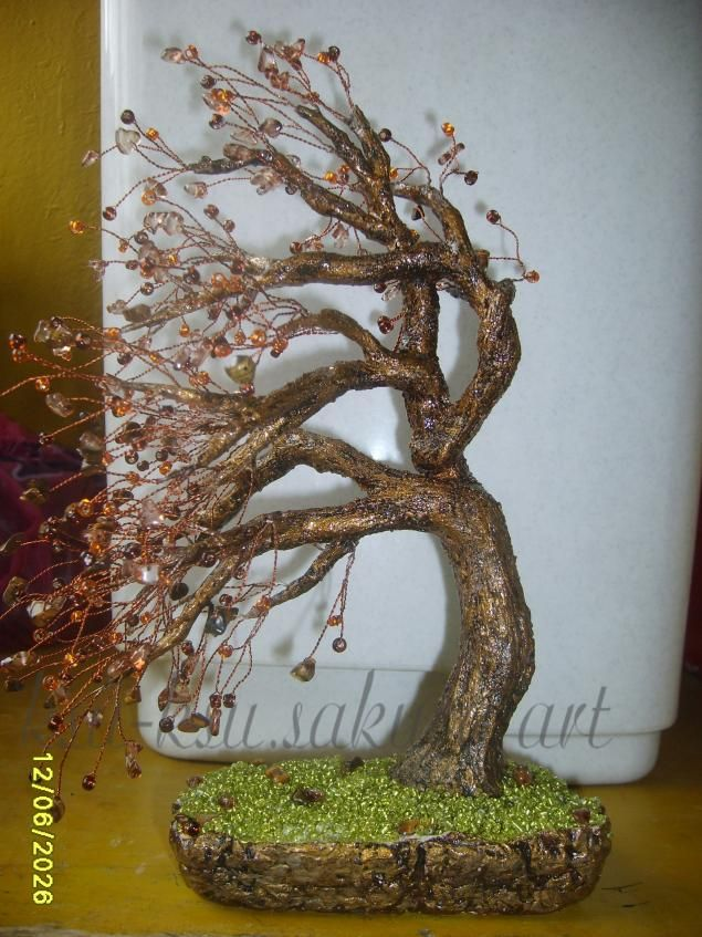 Плетение и оформление Дерево на ветру   Manualidades, Arboles