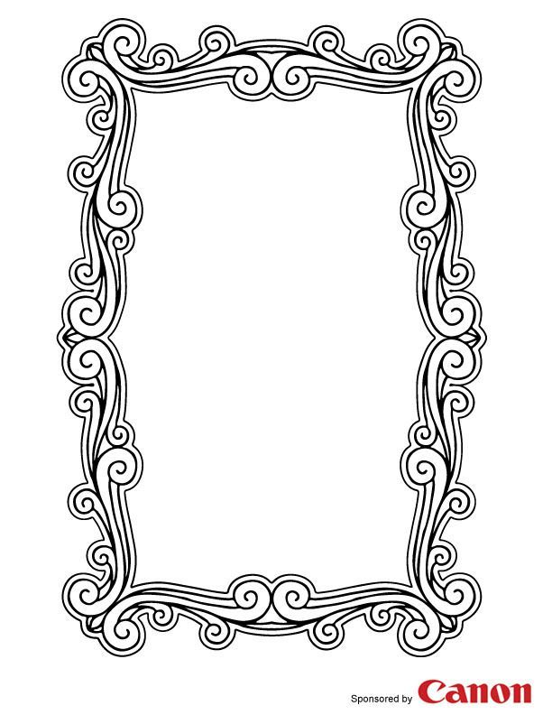 free printable picture frame templates  Frame 5 - Free Printable Coloring Pages | Arte en metal ...