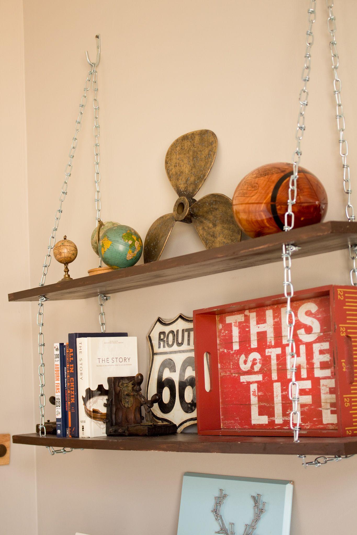 Diy Hanging Chain Shelves Hanging Shelves Diy Hanging