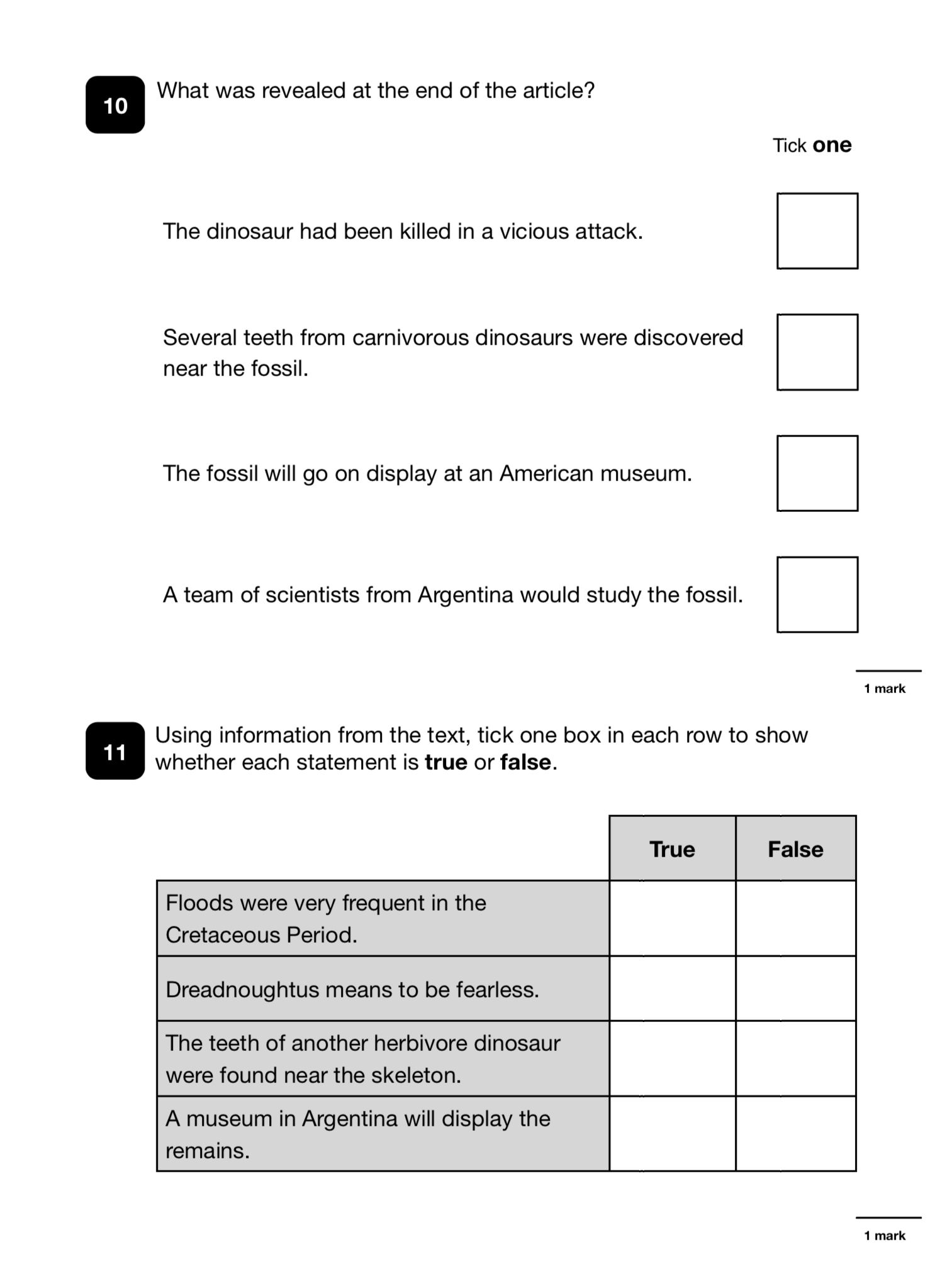 - Sample Page 'New Comprehension Practice Papers' (9-12 Years