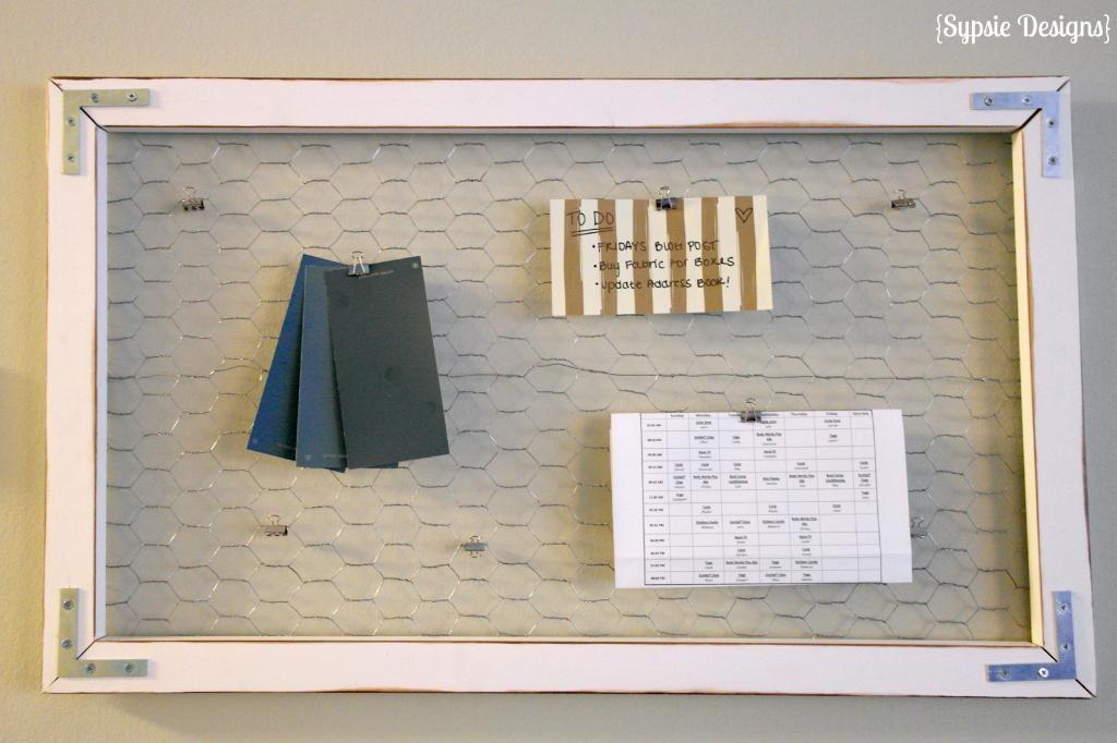 DIY Chicken Wire Message Board | sypsie.com | Sypsie Designs ...