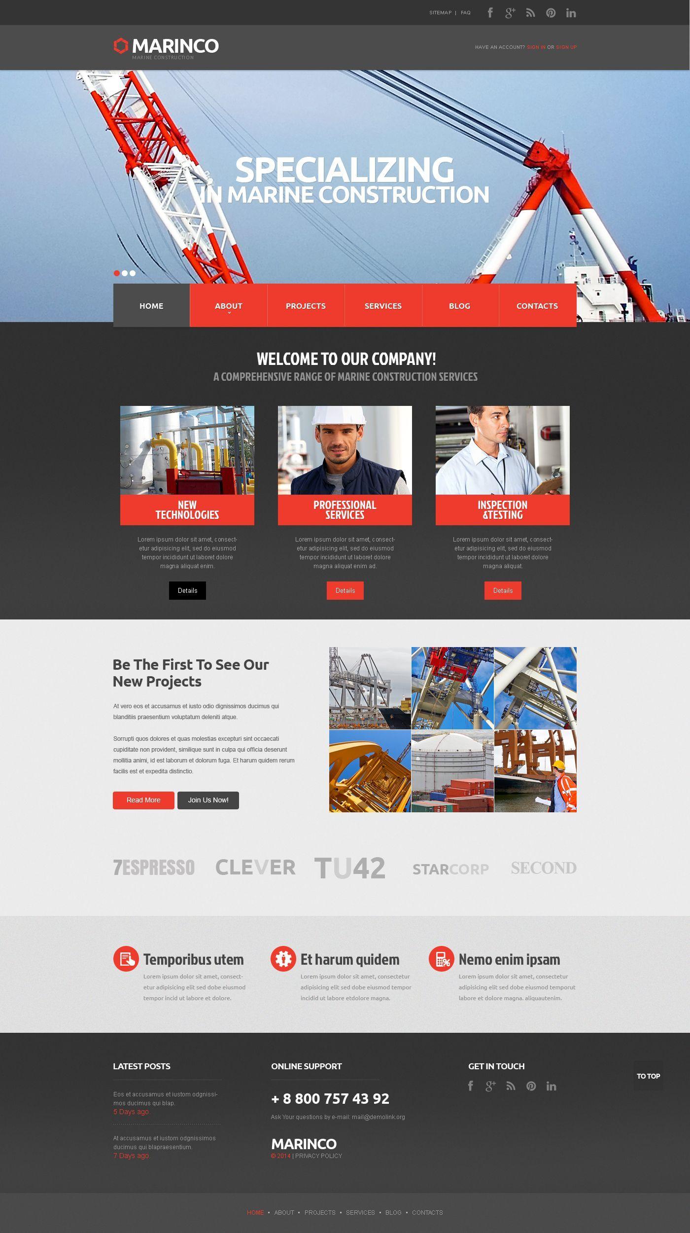 Industrial Responsive Website Template 48095 In 2020 Web Design Tips Construction Website Fun Website Design