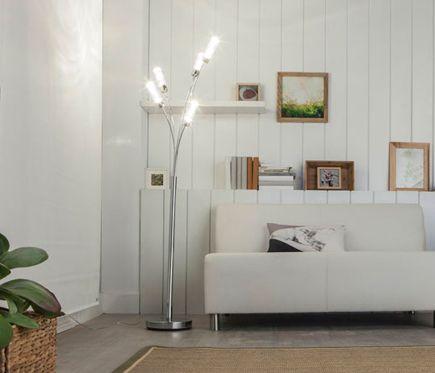 Lámpara de pie MIDU LED - Leroy Merlin | My Home | Lámparas de Pie ...