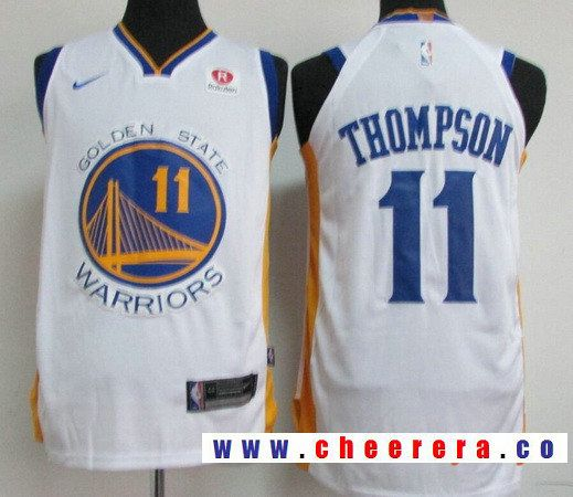9e613a885cd Men's Golden State Warriors #11 Klay Thompson White 2017-2018 Nike Swingman  Rakuten Stitched NBA Jersey