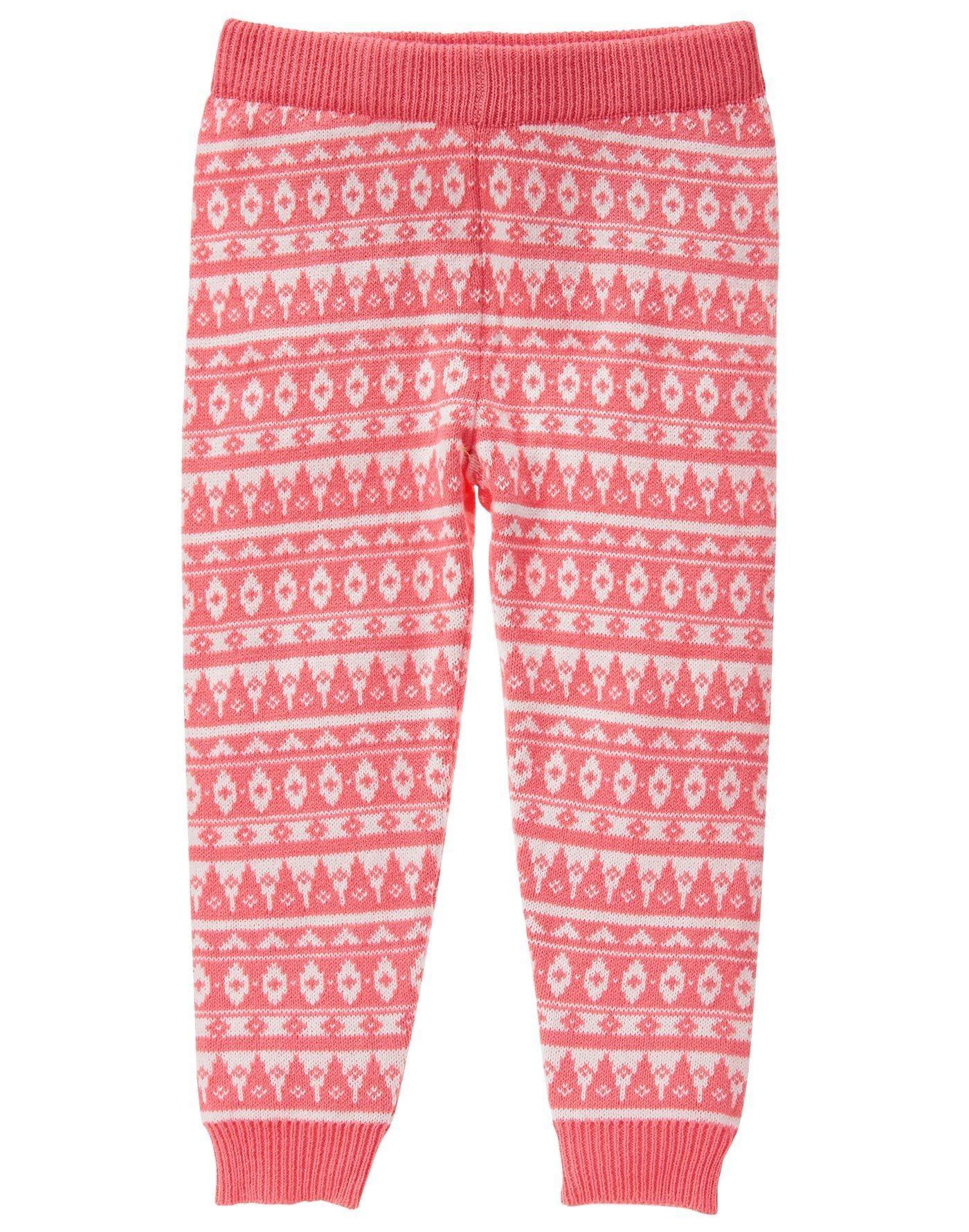 Fair Isle Sweater Leggings | Toddler girls