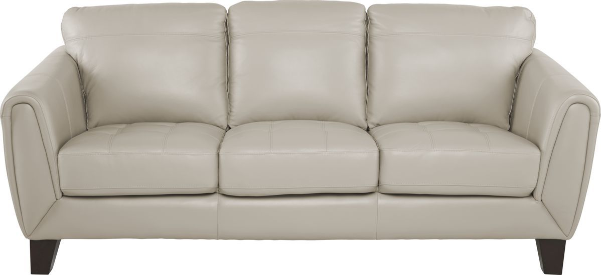 Livorno Beige Leather Sofa Rooms To Go In 2020 Leather Sofa