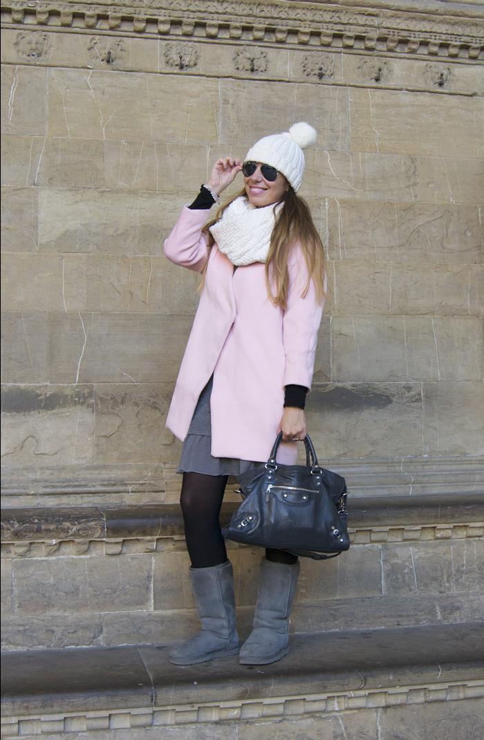 Nameless fashion blog: Pink coat #pink #balenciaga #coat #winter #fashionblogger