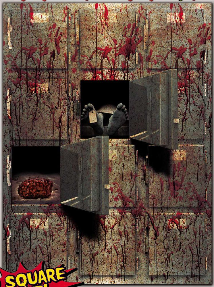 Bloody Horror GIANT MORGUE WALL GORE DECOR Halloween Prop Decoration