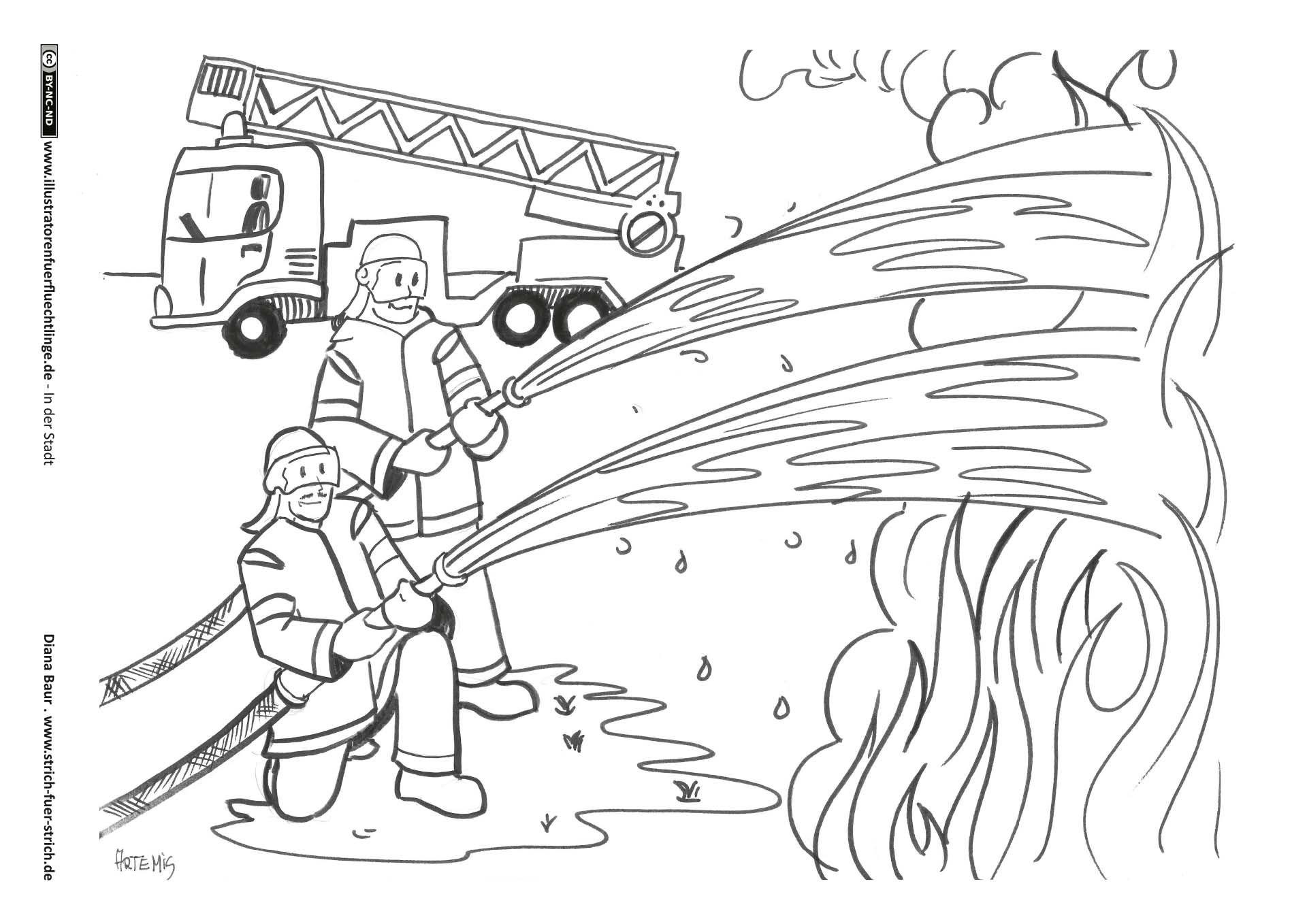 Feuerwehr Malvorlage feuerwehr Ausmalbilder feuerwehr
