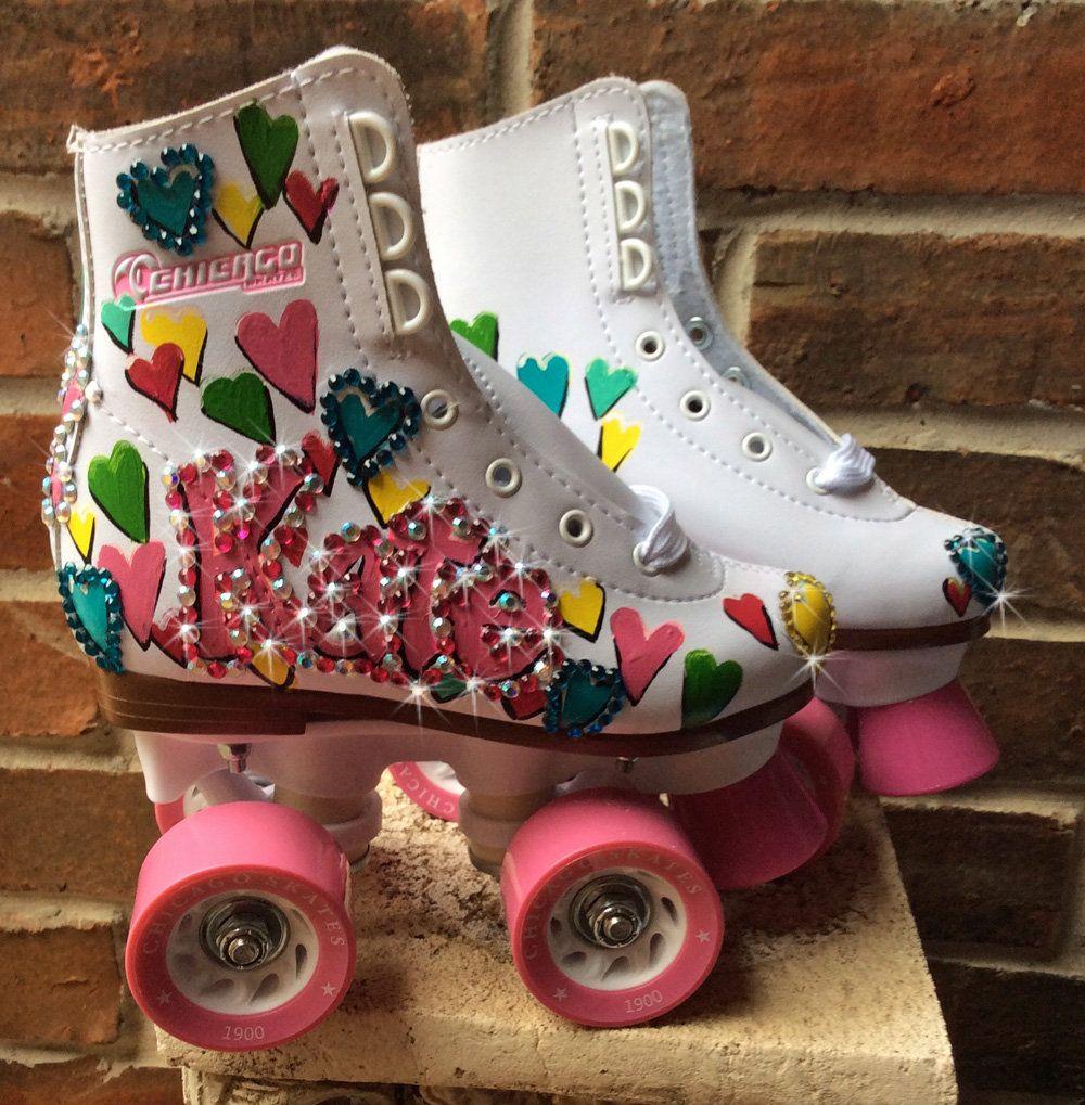 Custom Painted Roller Skates, OldSkool Skates, Personalized