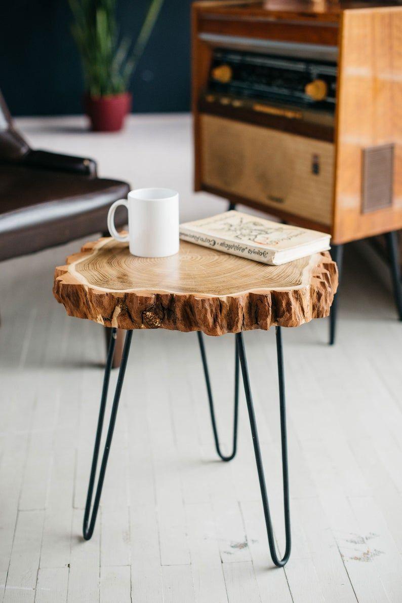 Wood Slab Coffee Table Live Edge Coffee Table Rustic Wood Etsy In 2020 Wood Slab Table Rustic Coffee Tables Live Edge Coffee Table
