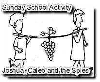 Joshua And The Spies That Went To See Promised Land Coloring Sheet