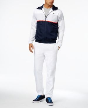 c44fdb8c Lacoste Men's 2-Piece Track Suit - White XXL | Products in 2019 ...