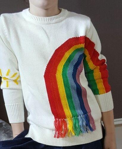 044dac201ab Sweaters 51582: Stella Mccartney Nwt Girls Rainbow Sweater Size 12 ...