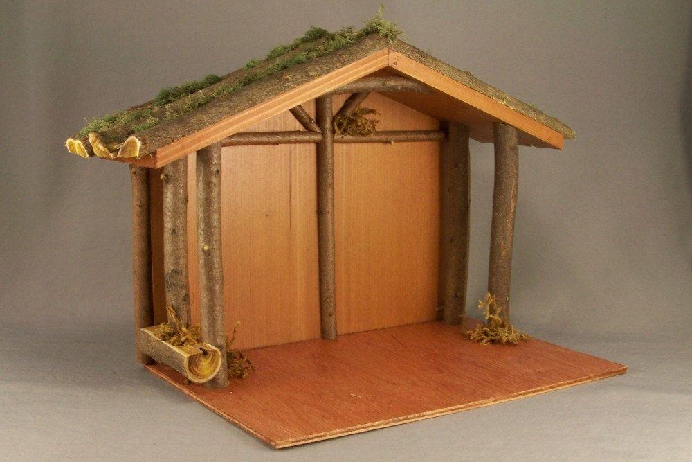 Rustic Wooden Nativity Stable | Diy nativity, Nativity ...