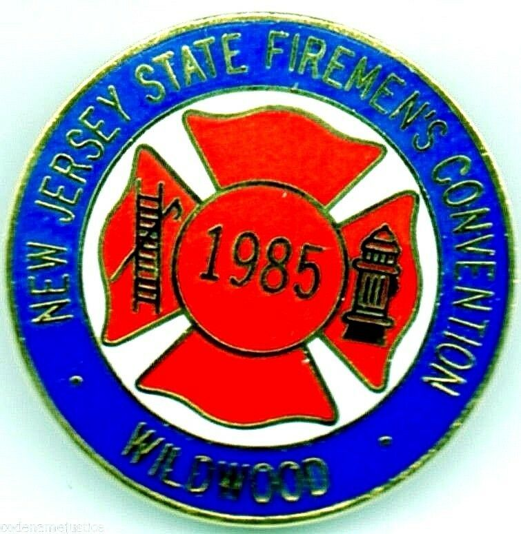 NEW JERSEY 2010 Firefighters Convention Collectible Lapel Pin WILDWOOD