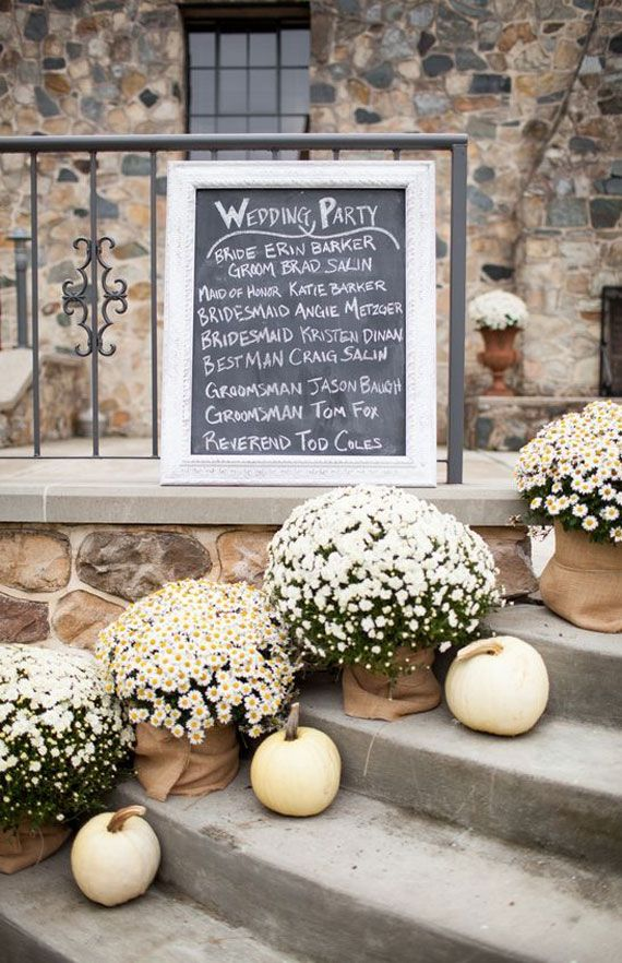 Dusty blue + Grey + Orange + Yellow Mustard Fall Wedding Color Combos { Pumpkin Theme }