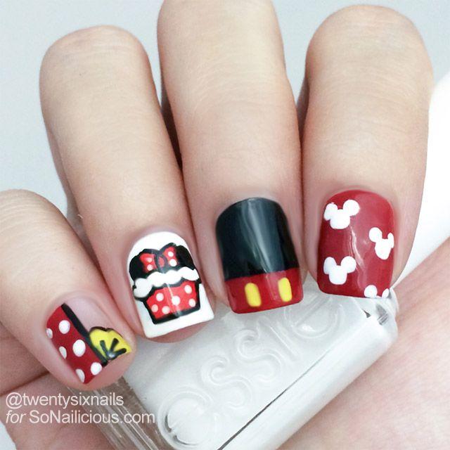 Cute Minnie Mouse Nails How To | Uñas hermosas, Esmalte y Hermosa