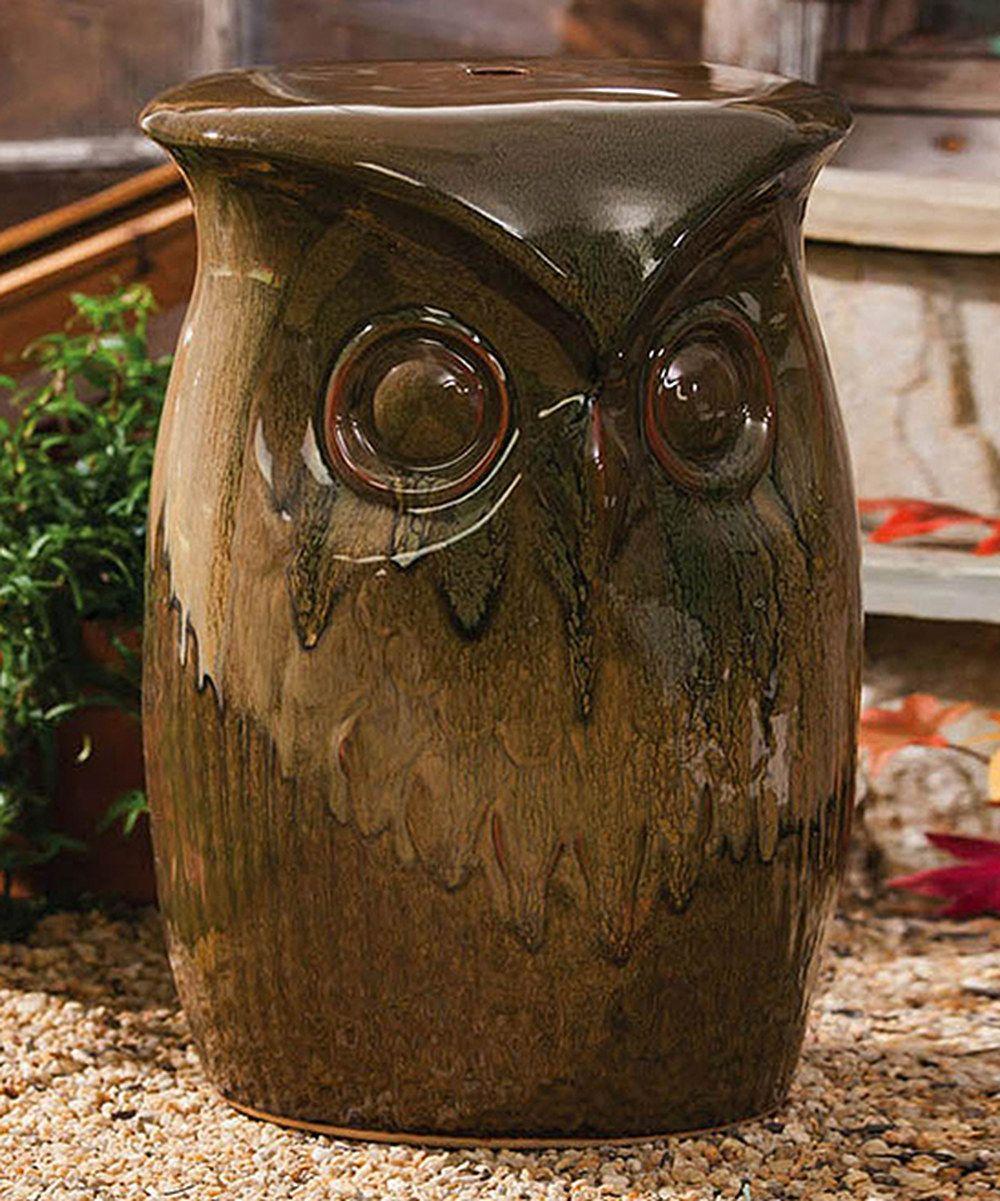 Merveilleux Owl · Wise Owl Garden Stool