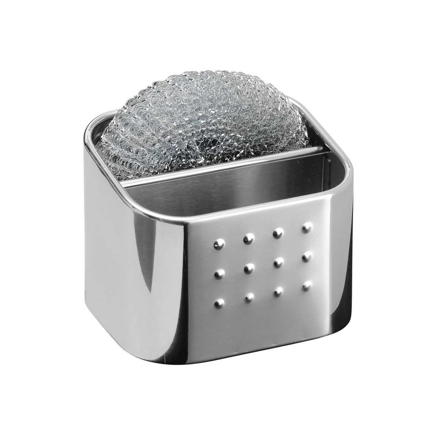 Interdesign Forma Stainless Steel Scrub Hub Sponge Caddy Polished Sponge Caddy Interdesign Polished Steel