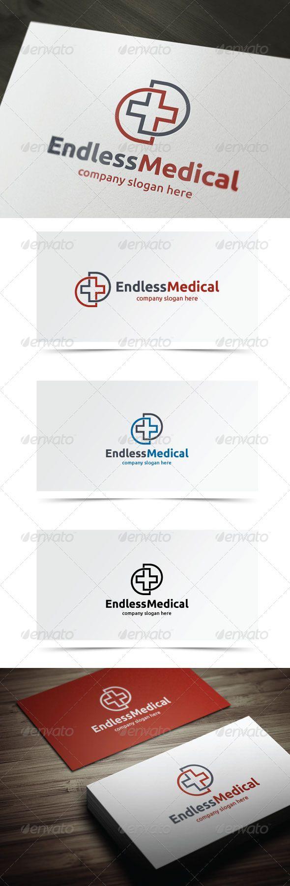 Endless Medical Clinic logo, Logo design template, Logo