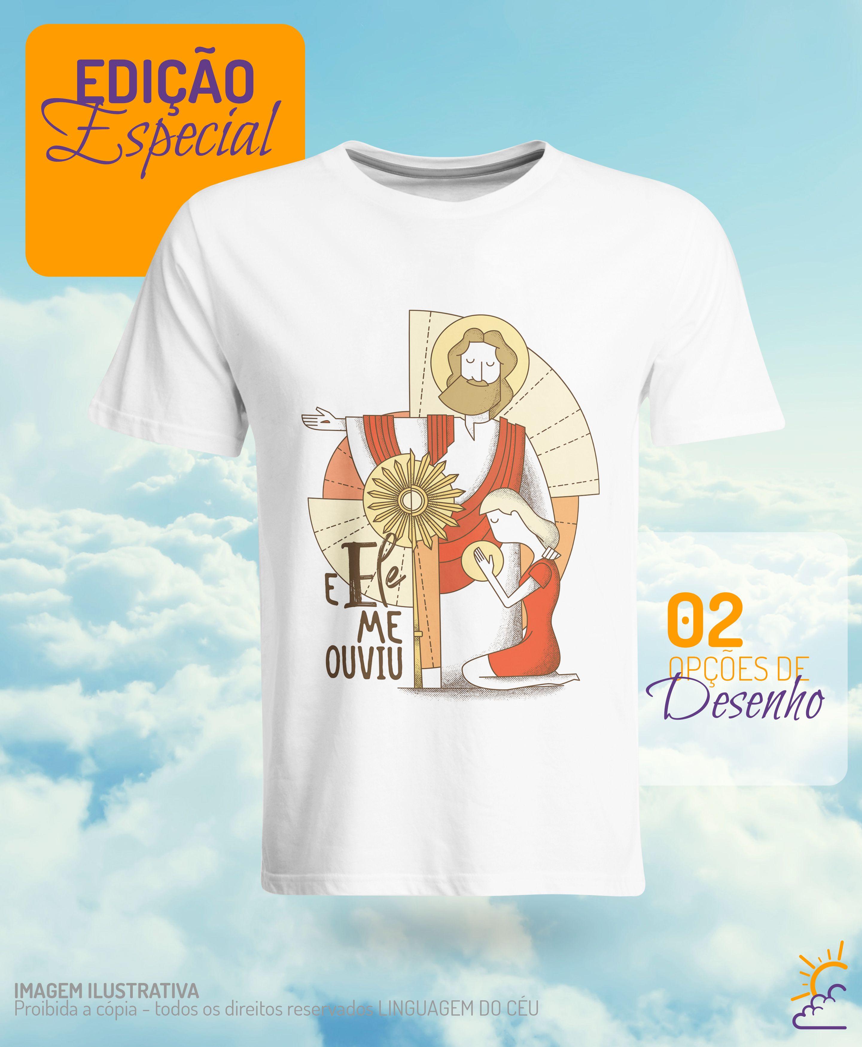 Camiseta Catolica Feminina Frase Com Santíssimo Sacramento E Jesus