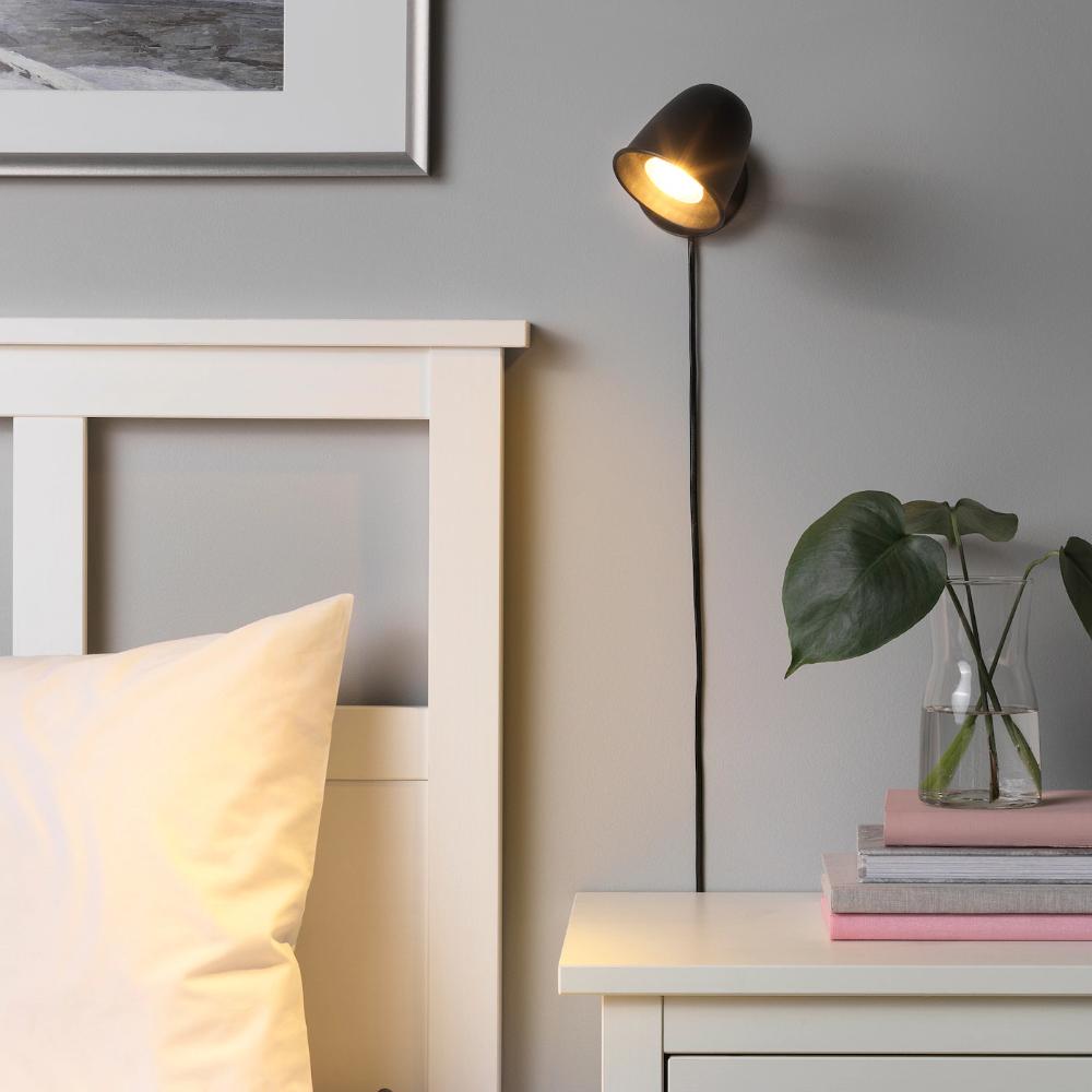 Lampadari Da Camera Matrimoniale Ikea skurup applique - noir en 2020 | ikea, luminaire, fil électrique