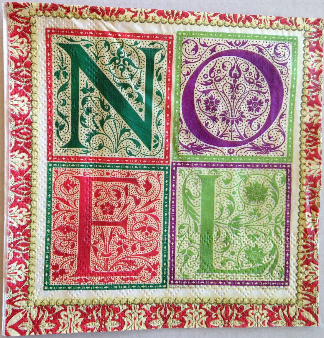 4 SINGLE LUNCH Paper Napkins for Decoupage Craft Noel Christmas ...
