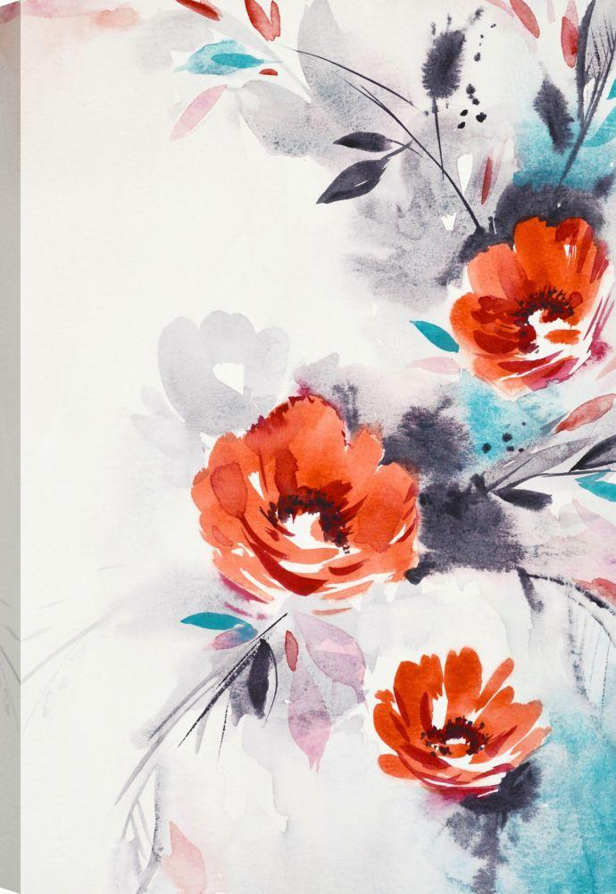 The Flowers Xxvi Floral Art Printed Canvas Wall Art Flower