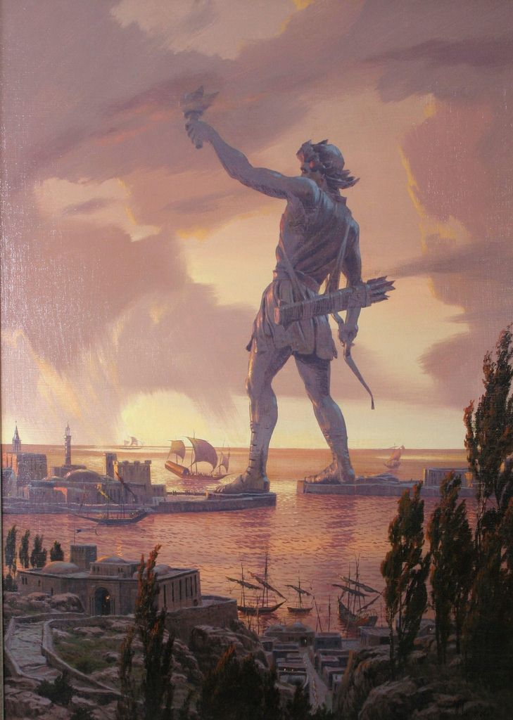 The Colossus Of Rhodes Was A Statue Of The Greek God Helios Erected