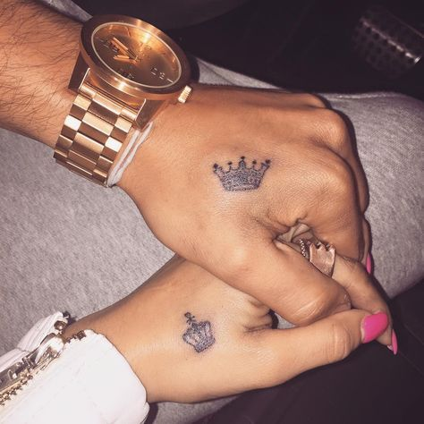 king and queen tattoo | tumblr | tattoo's | pinterest