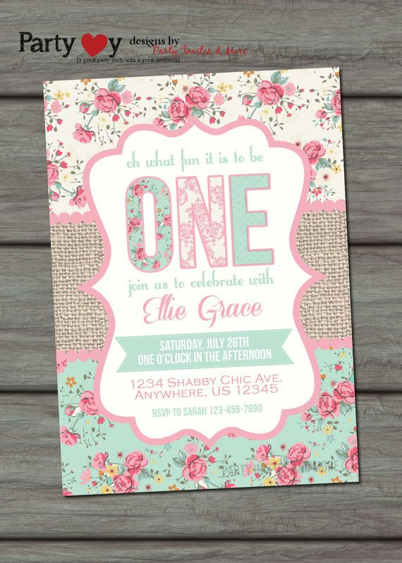 First birthday invitation birthday invitation 1st birthday first birthday invitation birthday invitation 1st birthday invitation shabby birthday invitation girls birthday invitation graces 1st birthday filmwisefo