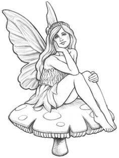 fairy drawing pencil sketches - Drawing Sketch For Kids