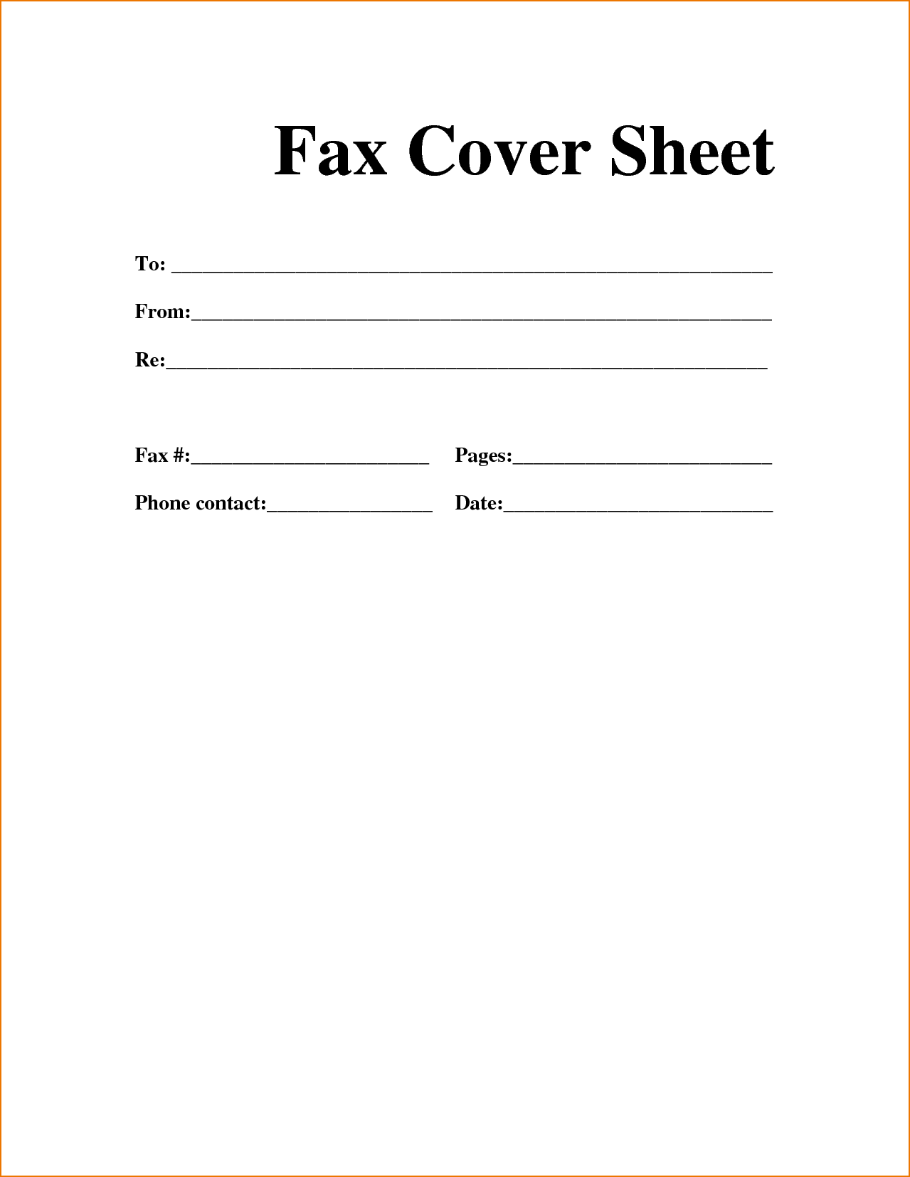 Confidential Medical Fax Cover Sheet Printablefax Blank Page ...