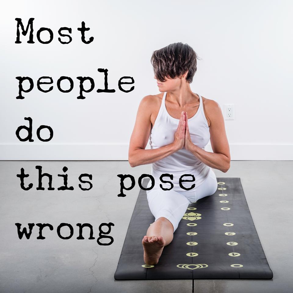 How To Properly Do Hanumanasana On A Gurugrid Yoga Images Yoga Anatomy Yoga Poses