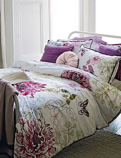 Bed Linens Luxury Fl Print Bedding, Botanical Print Bedding