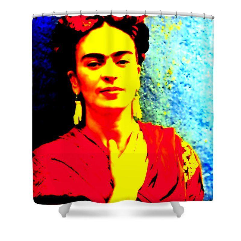 Frida Kahlo Shower Curtain Featuring The Mixed Media Funky Frida