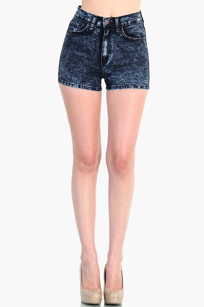 heetheadz.com dark denim high waisted shorts (29 ...
